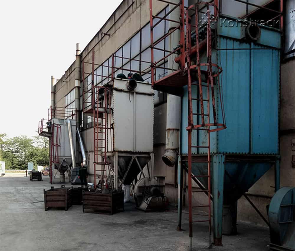 Ремонт рукавных фильтров на производстве тормозных колодок